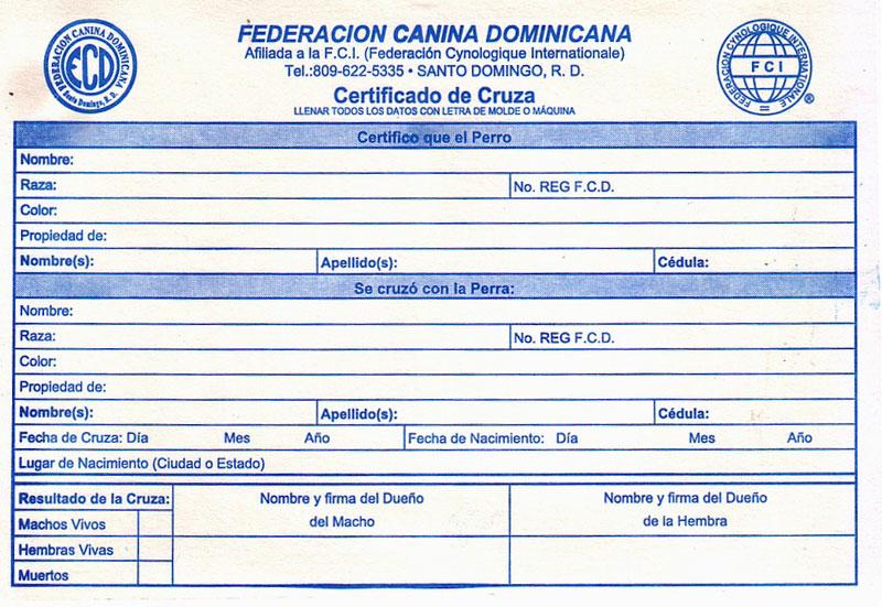 Certificado de Cruza FCD